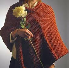 Knifty Knitter Patterns Magnificent The Knifty Knitter Knifty Knitter Poncho With Collar