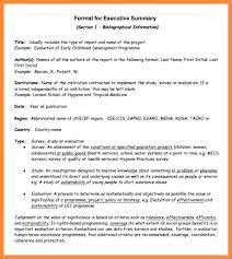 Project Status Executive Summary Template Sample Report Examples ...