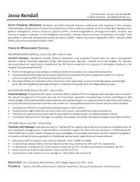 Financial Resumes Examples Finance Manager Resume Example Best