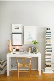 home office ideas neutral. West Elm Home Office. How To Style A Parsons Desk White Lacquer Neutral Office Ideas R