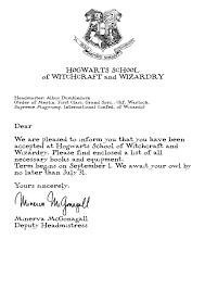 Harry Potter Acceptance Letter Word Template New Harry Potter Letter