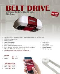 veteran garage door belt drive 8550w liftmaster dfw