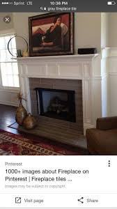 Gray tile for fireplace