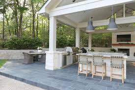 Pool house furniture Indoor Outdoor Kitchen Patio And Pool House Project Reveal The Creativity Exchange Outdoor Kitchen And Pool House Project Reveal