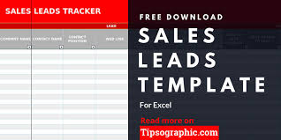 Sales Lead Template For Excel Free Download Tipsographic