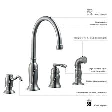 Design House 525808 Madison Kitchen Faucet With Sprayer And Soap