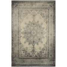 8 x 11 large ivory and gray area rug richmond