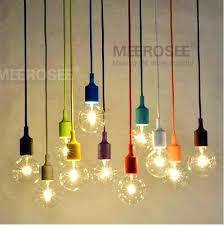 light colorful socket pendant light suspension drop lamp modern vintage bulbs bar restaurant edison bulb
