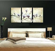 hand painted wall decor canvas flower oil painting modern abstract blossom magnolia art 3 panel au