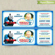 Train Ticket Invitation Template Free Printable Thomas The ...
