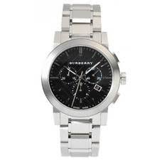 mens burberry watch new burberry the city mens watch chronograph silver black stainless steel bu9351
