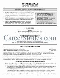 Resume Education Example New Substitute Teacher Resume Impressive
