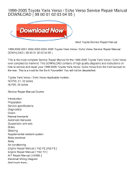 Calaméo - 1999-2005 Toyota Yaris Verso _ Echo Verso Service Repair ...