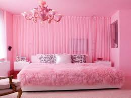kids girl room furniture ideas using pink curtain and pink fury blanket also pink chandelier