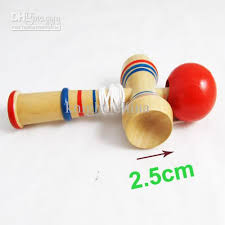Wooden Ball On String Game 100 New Wooden Wood Game Skill Kendama Ball Children Educational 2