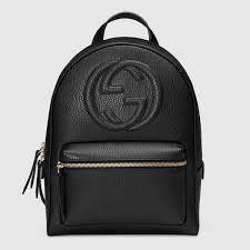 Black Designer Backpack Gucci Women Soho Leather Chain Backpack 431570cao0g1000