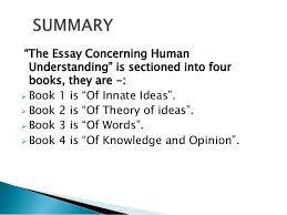 "an essay concering human understanding 3 ""the essay"