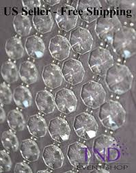 acrylic crystal garland strand chain hanging diamond bead wedding tree decor