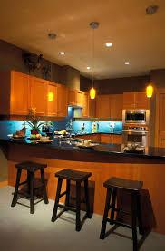 modern bar backsplash. Delighful Backsplash Modern Look Kitchen Flush With Warm Natural Wood Tones Contrasting  Glossy Black Countertops And In Bar Backsplash R