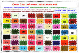 Color Chart For Clothes Color Chart Of India Bazaar