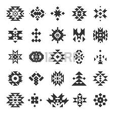 navajo tattoo designs. Vector Abstract Geometric Elements Navajo Tattoo Designs 3
