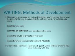 definition essay writing methods of development in this essay