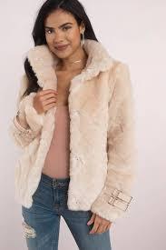fur coats cream cross my heart faux fur coat