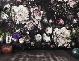 Large Dark Floral Wallpaper