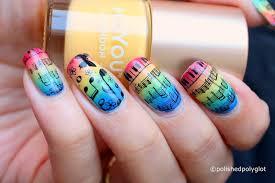 Difficult Nail Art Designs Nail Art Music With Rainbow Colours Nail Design Nail