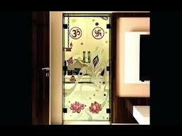 glass door design for puja room you