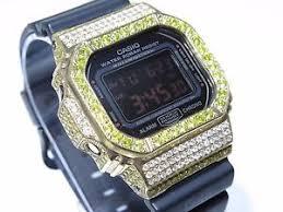 mens 10k yellow gold 5 00ct white yellow diamond sport casio g image is loading mens 10k yellow gold 5 00ct white yellow