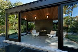 modern concrete patio designs. Modern Concrete Patio Designs With Glass Box Covered Moden Greenhouse