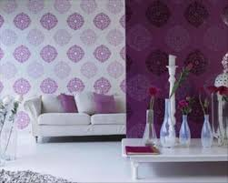 Purple Living Room Curtains Purple Living Rooms Dark Purple Accent Wall Accentuates This