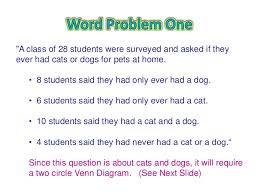 Venn Diagram Problem Solving Venn Diagram Word Problems