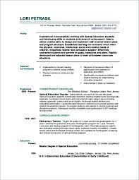 Free Teacher Resume Templates Inspiration Resume Samples For Teachers With No Experience In India