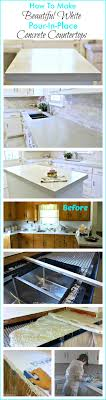 Making Cement Forms How To Make Diy Cast In Place White Concrete Countertops Do It