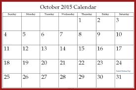 Oct 2015 Calendar Template Rome Fontanacountryinn Com