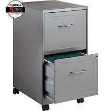 file cabinet. Lorell 16873 2-Drawer Mobile File Cabinet, 18-Inch Depth - Gray File Cabinet A