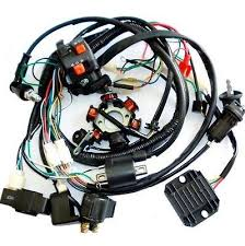 full electrics wiring harness cdi coil solenoid gy6 150cc atv quad full electrics wiring harness cdi coil 150cc gy6 atv quad bike buggy gokart usa