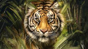 Tiger Painting Art, HD Animals, 4k ...