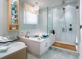 water splashes into bathroom