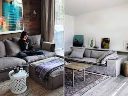 Charcoal Grey Slip Cover Couch 1