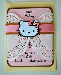 birthday and baby shower invitations hello kitty hello kitty doily invitations