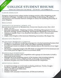 Resume Templates College Student College Internship Resume Template