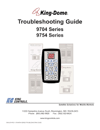 King Dome In Motion Troubleshooting Guide Manualzz Com