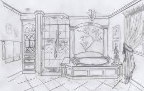 bathroom interior design sketches. Bathroom Sketch Interior Design Sketches T