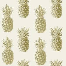 Pineapple Pattern Gorgeous Grandeco Pineapple Pattern Wallpaper Tropical Fruit Metallic Motif