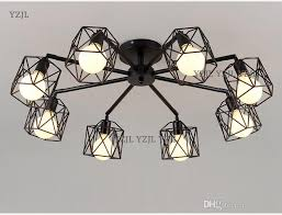 wrought iron ceiling chandelier lamp e27 bulb living room vintage ceiling chandeliers multiple rod lamparas for home lighting fixtures pendant light