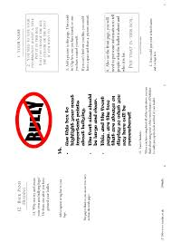 Bullying Leaflet A Publisher Template