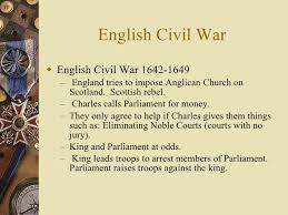 english civil war  the very short version